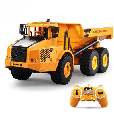 E581 2.4G Remote Control Toy Articulated Dump Truck Engineering Vehicles Car for Children Birthday
