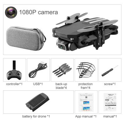 LS MIN WiFi FPV RC Drone Quadcopter with 1080P / 4K HD Camera One-Button Auto Return Profesional Helicopter