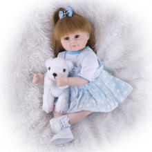 KEIUMI 18Inch 47CM Realistic Reborn Dolls Babies Cloth Body Stuffed Lifelike Simulation Girl Baby Doll Toy Childrens Day Kids Birthday Gifts