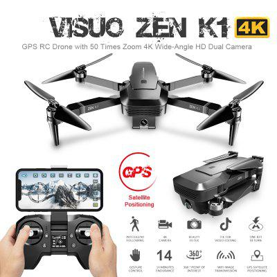 Visuo ZEN K1 5G WIFI GPS Foldable RC Drone Quadcopter with 4K HD Dual Camera Gesture Control Brushless Motor Drones RC Helicopter