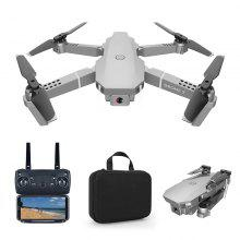 E68 Foldable RC Drone WiFi FPV 4K HD Camera 4 Channels With LED Lights RC Helicopter One Button Auto Return Quadcopter