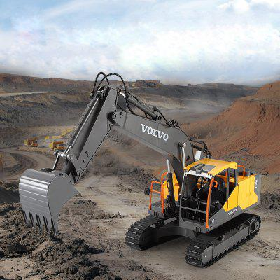 E568 2.4GHz DIY 3-In-1 Remote Control Excavator Big RC Trucks imulation Excavator for Boys Kids Gift-Without Original Packaging alloy 1 10 fuel filter spare parts for hsp remote control engine nitro