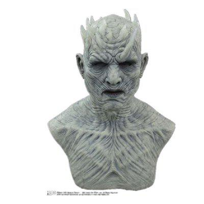 Type Game of Thrones 8 Horror The Night King Mask Cosplay White Walkers with Wig Zombie Latex Masks Halloween Party Props