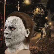 Get Halloween Mask Horror Mcmel Michael Scary Cosplay Mask Adult Movie Latex Full Face Masks Headgear Carnival Party Costume Props Just for $26.99