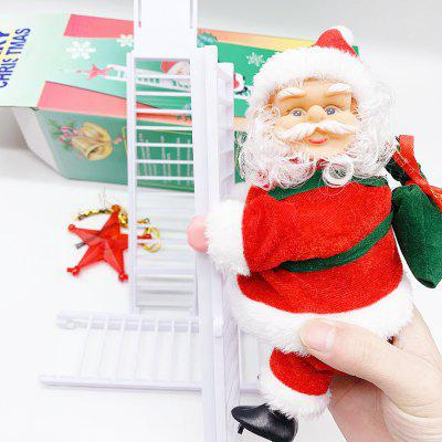 Christmas Decoration Santa Claus Electric Climbing Hanging Xmas Ornament 2020 For Home Gift Toys