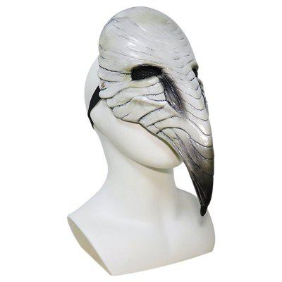 Halloween Masks Plague Doctor Steampunk Bird Mask Cosplay LED Lights Scary Latex Masquerade Party Props Toys for Kids Adult