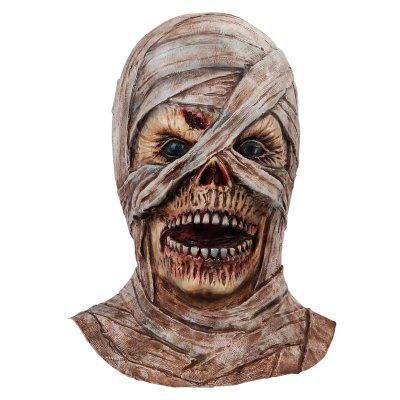 Funny Scary Mummy Cosplay Mask Adult Full Head Halloween Ghost Latex
