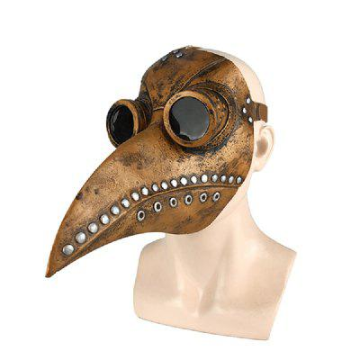 Halloween Mask Funny Medieval Steampunk Plague Doctor Bird Cosplay Masks Latex Punk Beak Event Props Party Prop Toys