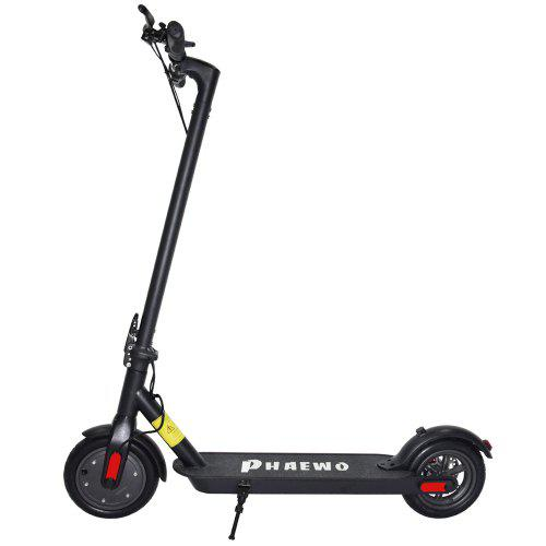 Folding Electric Scooter 12.5 Miles Long-Range Up to 15.5 MPH 8.5 in Solid Tires with Disc Brake