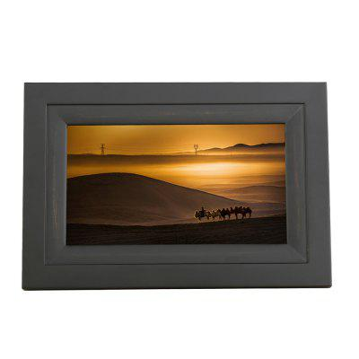 IDEAPLAY DF702 7 inch Screen 8GB WiFi Digital Photo Frame Wooden Album with iOS Android App