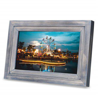 IDEAPLAY DF1002 10.1 inch Screen WiFi Digital Photo Frame Wood Picture Album with iOS Android App