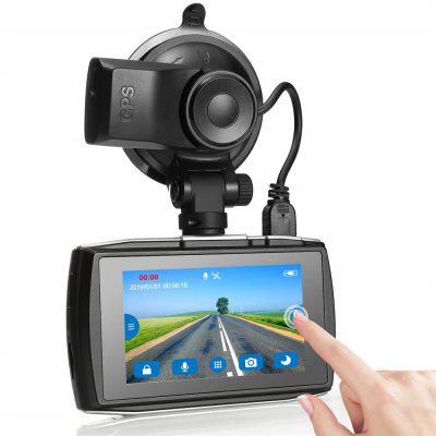 Z-EDGE T3 3.0 inch Touch Screen Dash Cam 1080P Full HD Car DVR with GPS G-Sensor Night Vision Image