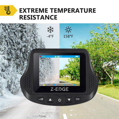 Z-EDGE S3 Car DVR 2.4 inch LCD Dash Cam 1080P Front and Rear Dual Cameras with G-sensor