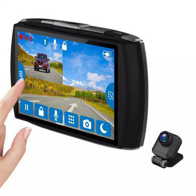 Z-EDGE T4 Dual Lens Dash Cam 4.0 inch Touch Screen FHD 1080P Car DVR Front and Rear Cameras Image