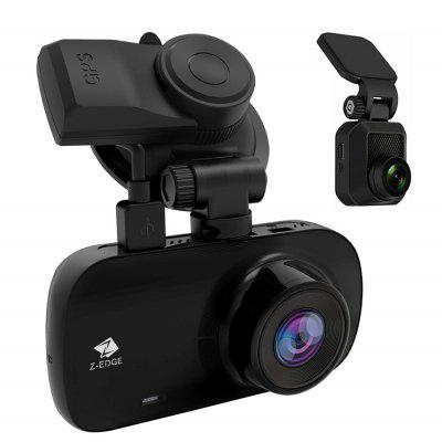 Z-EDGE Z3D 2.7 inch Screen 1080P HD Dual Cameras Dash Cam with GPS Support 256GB TF Card