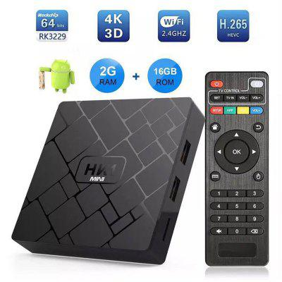 HK1 Mini Android 9.0 Inteligente TV Box 2G RAM 16G ROM Quad Core RK3229 conjunto Top Box 4K Wifi reproductor multimedia