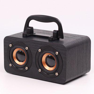 FT-4002 Wooden Portable Bluetooth Speaker Wireless Retro Subwoofer Support TF Card USB Stick FM