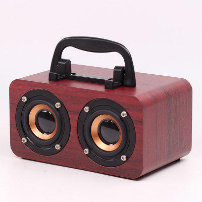 Wooden Bluetooth Speaker Retro Subwoofer Portable Mini Wireless Speaker Support TF Card USB Stick FM