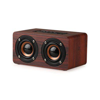W5 En Bois Haut-Parleur Sans Fil Portable Bluetooth Haut-Parleur 10W Subwoofer Support TF Carte pour Smart Phone