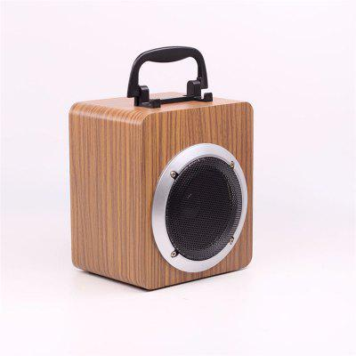 15W Portable Wooden Wireless Bluetooth Speaker Retro Subwoofer support TF card and USB Stick