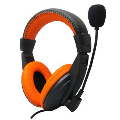 3.5mm Gaming Headphone Wired Headset Deep Bass Hi-Fi Stereo Sound with Microphone for PC Laptop