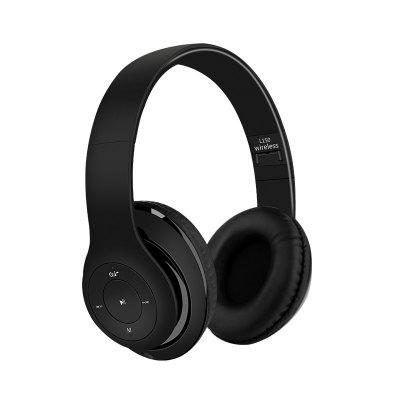 Portable Bluetooth Headphone Over Ear Wireless Headset with Microphone for Smartphone and PC