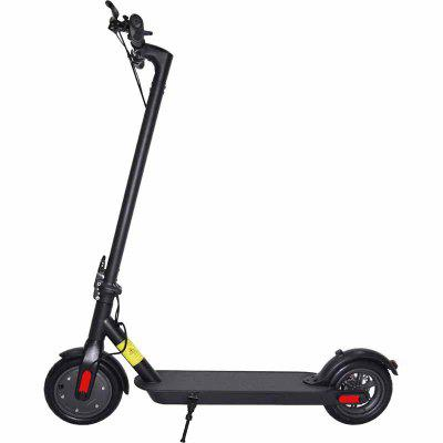 IDEAPLAY Folding Electric Scooter 12.5 Miles Range Up to 15.5 MPH 8.5 in Solid Tires with Disc Brake Image