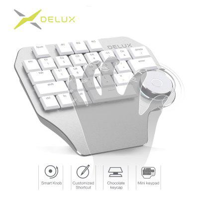 Delux T11 Designer Keyboard with Smart Dial 3 Group Customizable Keys Keypad Compatibility