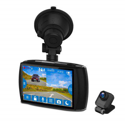 Z-EDGE T4 FHD 1080P 4.0 inch Touch Screen Front and Rear Dual Cameras 155 Degree Wide Angle Dash Cam