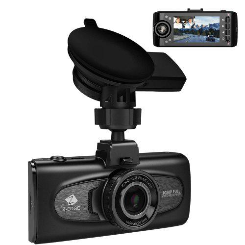 Z-EDGE F1 Full HD 1080P Dual Lens 2.7 inch Screen 150 degree Wide Angle Car Dash Cam with GPS