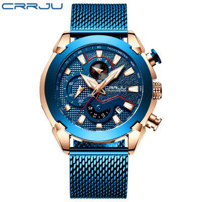High-end Mens Multifunctional Chronograph Watch with High-quality Plating in the IP Blue Furnace