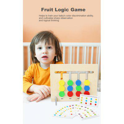Logic Game Double-Sided Wooden Montessori Teaching Aids Children Educational Logical Thinking Toy