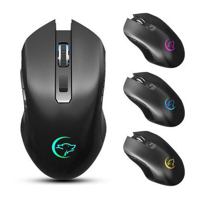 G851 1200/1600/2400DPI 2.4GHz Receiver Wireless Mouse Rechargeable Colorful Mute Home Office Gaming Mice for Laptop PC Computer