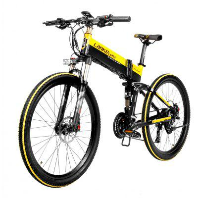LANKELEISI XT750 48V 10.4AH 400W Electric Mountain Bike 26 inches 1.95 Folding Adult Maximum Speed 35 km/h