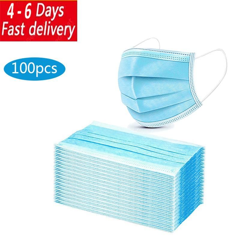 3 Layer Medical Disposable Facial Masks Anti-Dust Anti BacteriaWith with 3C certification - US 100pcs