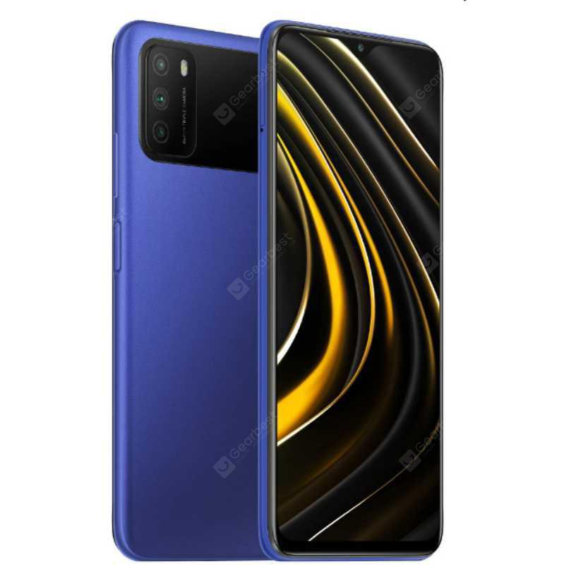 Xiaomi Poco M3 Smartphone 48MP AI triple camera 6000mAh 18W fast charge 6.53 inch FHD Dot Drop display 11nm energy-efficient processor