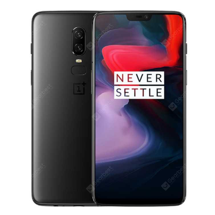 Oneplus 6 Global Version Smartphone 6.28 inches 8GB RAM Dual SIM Card Snapdragon 845 Octa Core Android Mobile Phone
