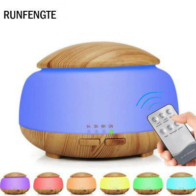 RUNFENGTE Essential Oil Aroma Diffuser Wood Grain Aromatherapy Ultrasonic Air Humidifier With Remote
