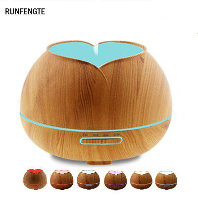 RUNFENGTE Petal Aroma Diffuser Essential Oil Ultrasonic Air Humidifier Air Pupifier with 7LED Lights