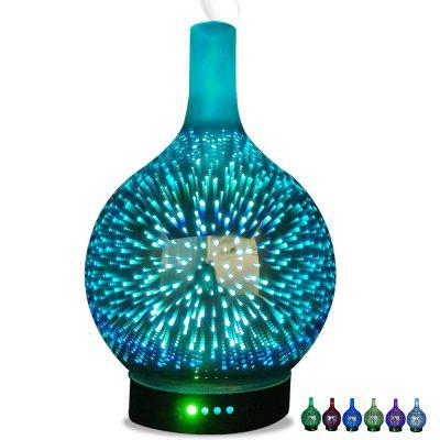 RUNFENGTE 3D Glass Aroma Diffuser Essential Oil Diffuser Air HumidifierWith 7 Color Changing LED