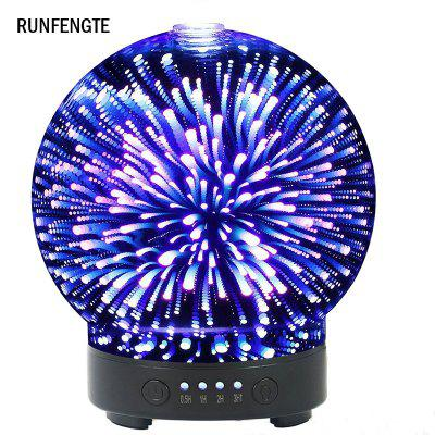 RUNFENGTE 3D Glass Aroma Diffuser Essential Oil  Air Humidifier with 7 Color Changing LED Lights