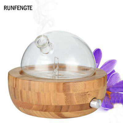 RUNFENGTE Natural Bamboo Glass Nebulizer Aromatherapy Diffuser Waterless Essential Oil Humidifier