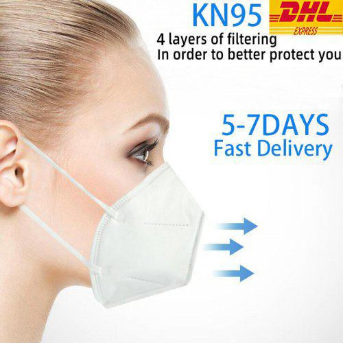 DHL Free Shipping KN95 Mask Disposable Breathable Protective Anti-virus For Dust Particles Safety