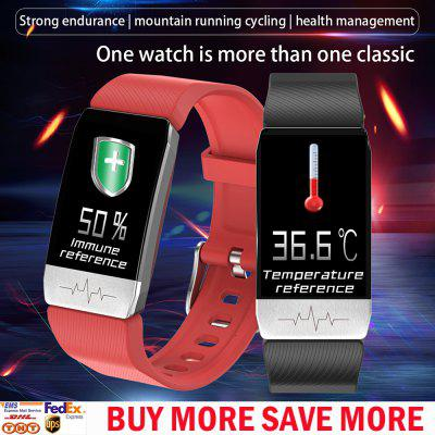 Smart Watch Real-time Body Temperature Thermometer Oximeter Waterproof Fitness Watch Call Reminder Sport Mode Smartwatch Sport Bluetooth