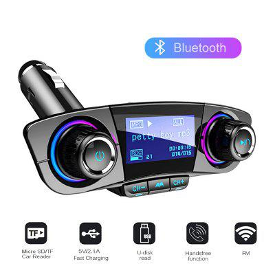Auto Car Mp3 Player Bluetooth FM Transmitter Wireless Aux Modulator Handsfree Radio Music USB Charger Adapter Disk LCD Display Cars