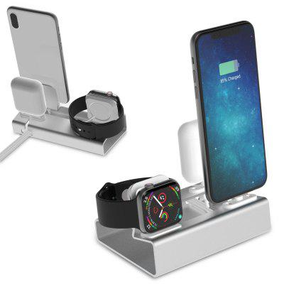 Aluminum 3 in 1 Charging Dock for iPhone Apple Watch Airpods Charger Holder