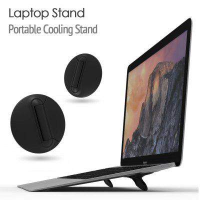 2pcs Laptop Stand Mini Portable Cooling Pad for MacBook Notebook Skidproof Pad Cooler Stand