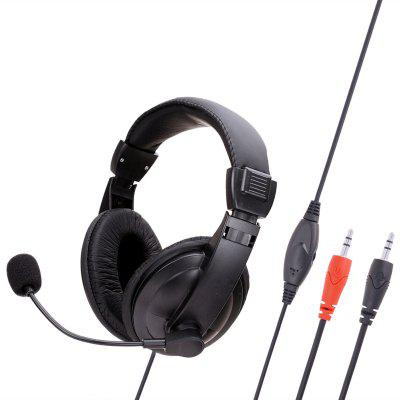 SY750MV Over-Ear 3.5mm Surround Stereo Microphone Audio Gaming Headphones Wired Headset