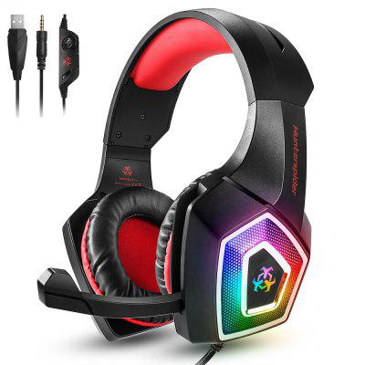 V1 Gaming Headset Over ear headphones wired control with Mic LED Light Casque Gamer Headset for PC PS4 Xbox One