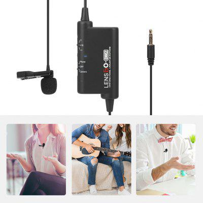 LENSGO LYM-DM2 External Collar Clip MIC SLR Camera Mobile Phone Recording Live Interview Wired Microphone